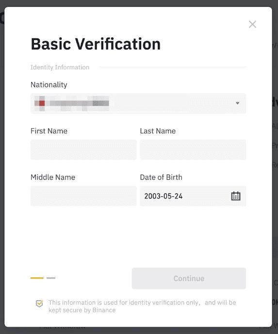 كيفية توثيق حسابك على منصة بينانس بالهوية