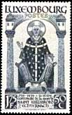 Stamp honoring Willibrord on the 1200th anniversary of his death