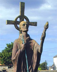 Statue of St. Aidan at Linsifarne