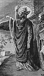"""Cyril of Jerusalem, from """"Pictorial Lives of the Saints"""""""