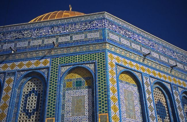 Dome of the Rock detail of ceremic tile designs, Palestine