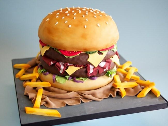 Kue ualgn tahun Burger