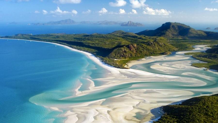 Whitehaven-Beach, Whitsunday Island, Australia