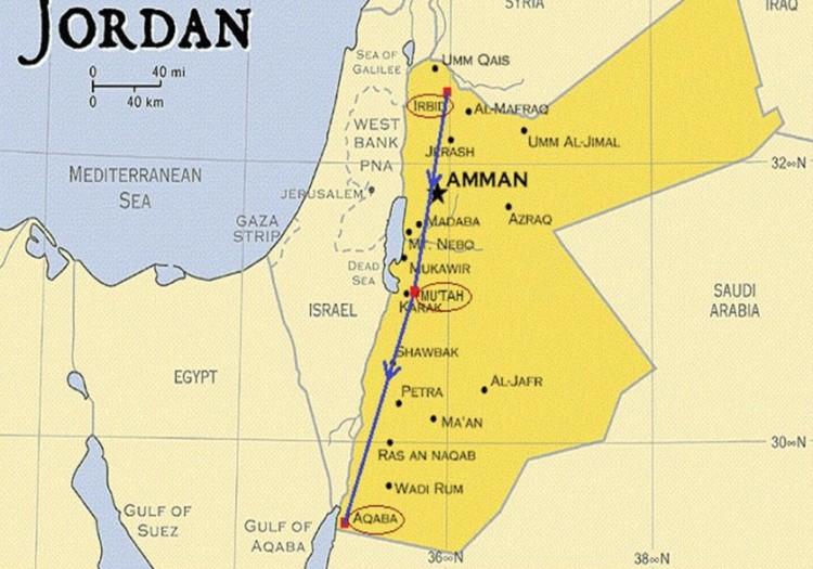 Lokasi Perang Mu'tah