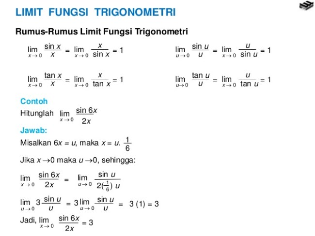 Limit Trigonometri