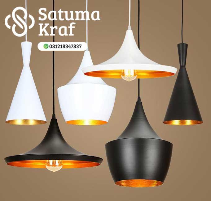 lampu gantung modern dari tembaga