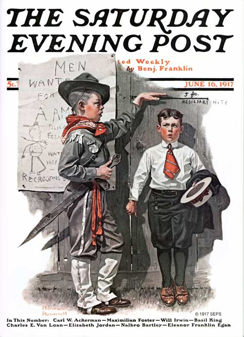 Necessary Height By Norman Rockwell The Saturday Evening