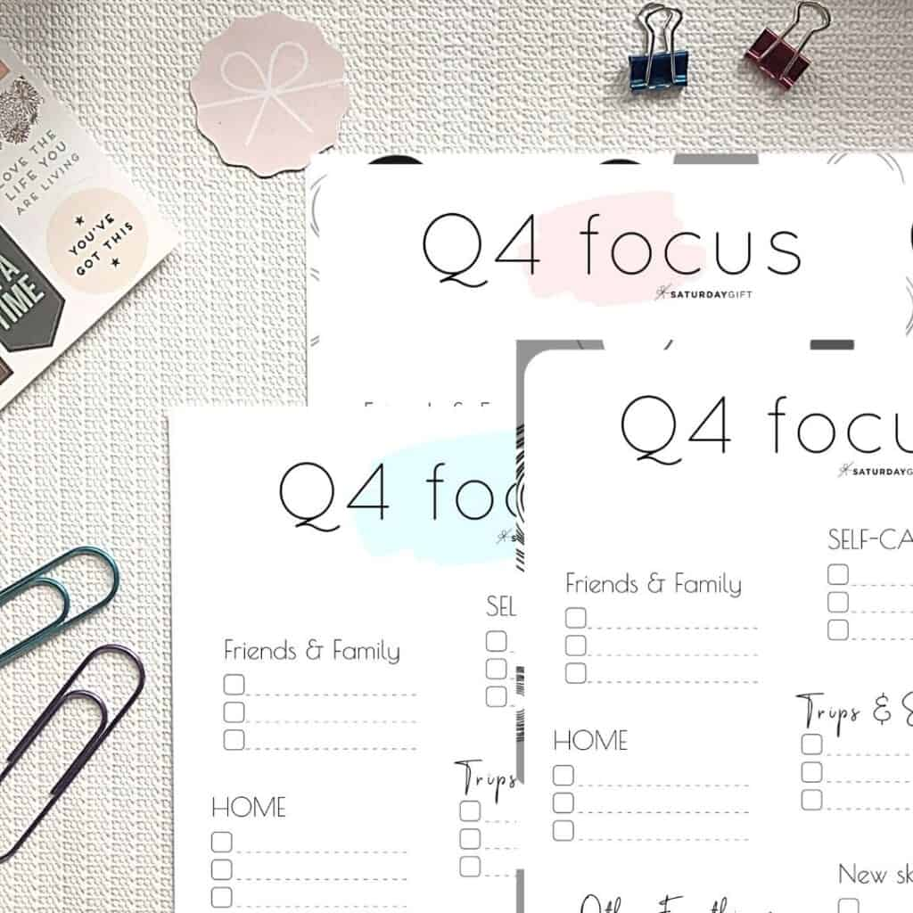 Write Down Quarter Four Plans And Goals And Stay Focused