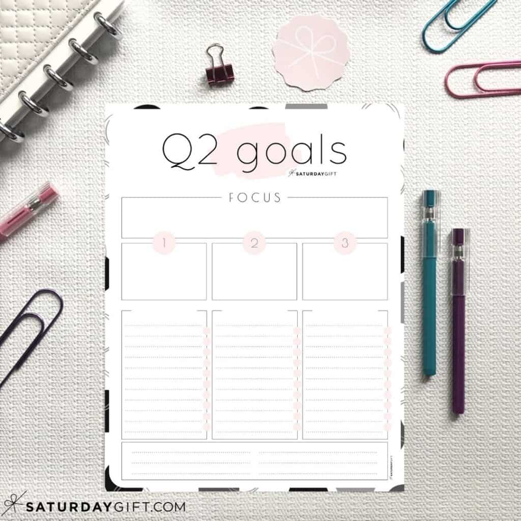 How To Set Amp Achieve Quarter Two Goals Free Worksheets