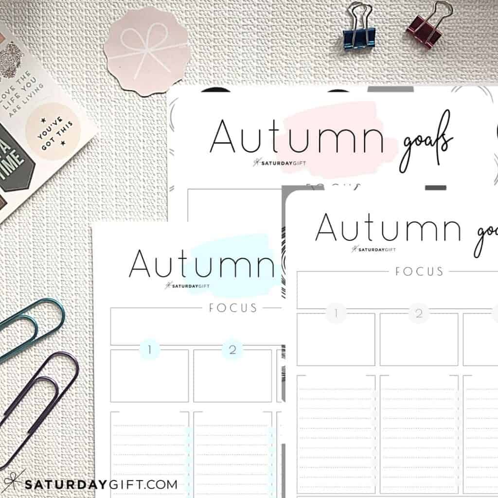 How To Set Amp Achieve Autumn Goals Printable Worksheet
