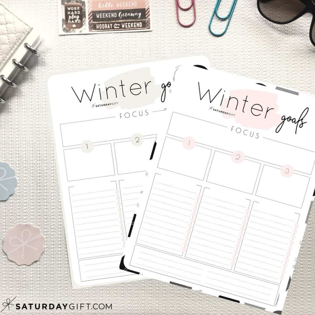 How To Set Amp Achieve Winter Goals Printable Worksheet