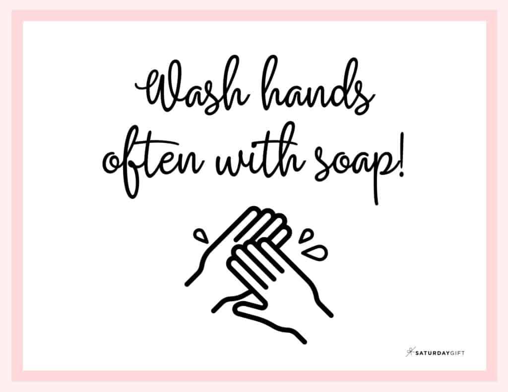Printable Wash Hands Sign