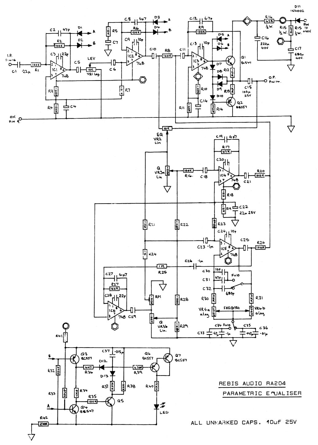 rebis audio ra204 parametric eq cct old viking pa2a wiring diagram diagram wiring diagrams for diy read wiring diagrams at fashall.co