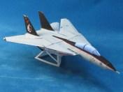 Maqueta 3D imprimible en papel del avión F 14A. Manualidades a Raudales.