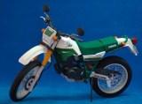 Papercraft recortable de la motocicleta Yamaha Serow 225. Manualidades a Raudales.