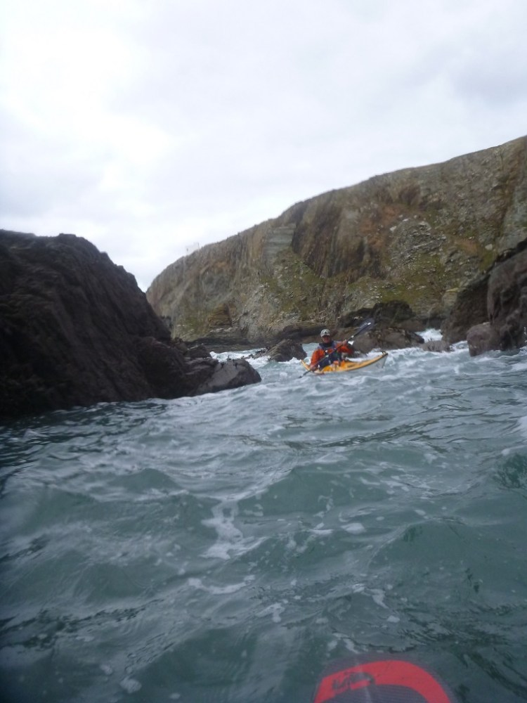 We did a bit of rock-hoping on the return back to Church Bay.