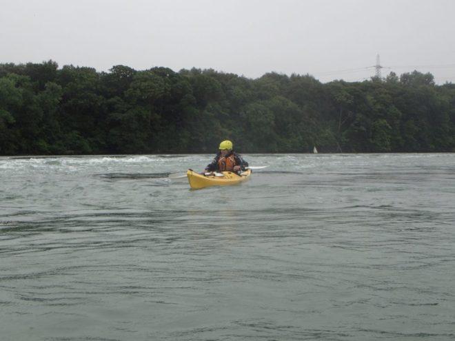 Mick in his new boat