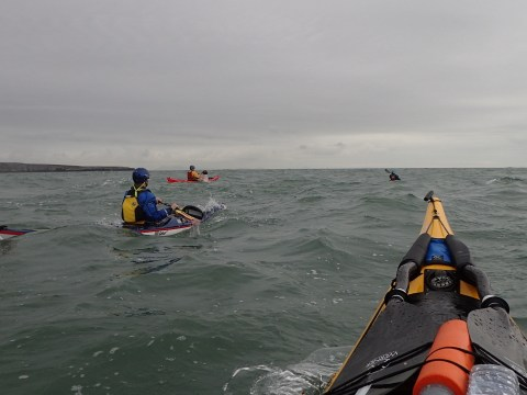 Hitching a ride on the South Stack tide race back to PM