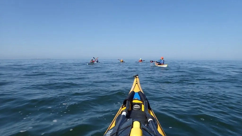 Heading out - Skerries in the distance