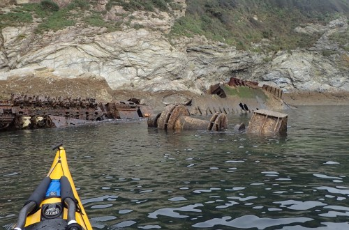 What's left of the trawler Ben Asdale. Sank 30th December 1978