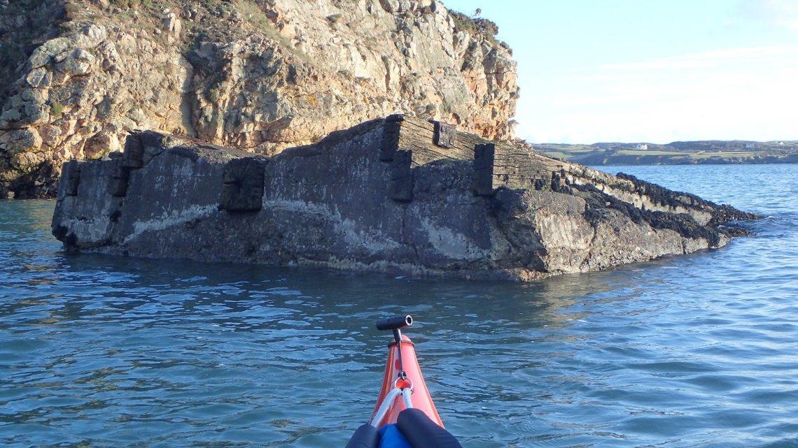 Porth yr Ogof - remains of former lifeboat slipway