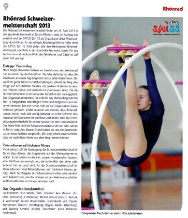 Artikel Satus Magazin 1/2013