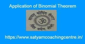 Application of Binomial Theorem