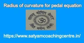 Radius of curvature for pedal equation
