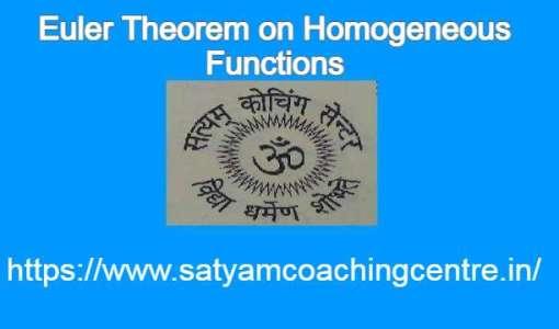 Euler Theorem on Homogeneous Functions