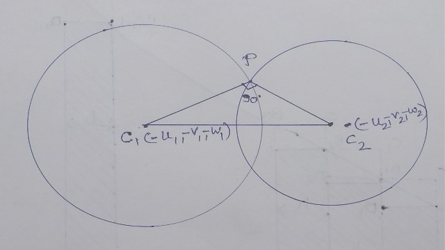 Orthogonality Condition of Two Sphere