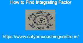 How to Find Integrating Factor?