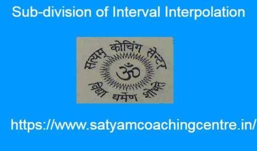 Sub-division of Interval Interpolation