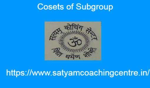 Cosets of Subgroup
