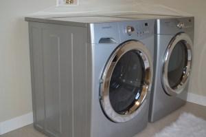 Waschmaschinenmatte Vorleger im Bad