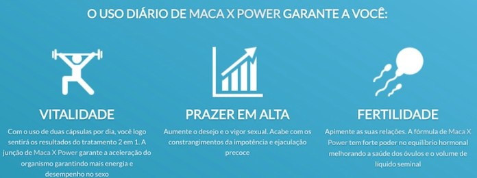 maca x power beneficios