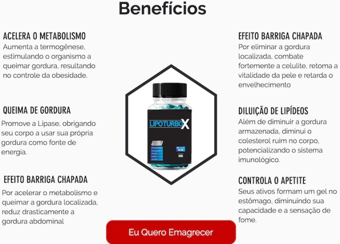 beneficios do lipo turbo x