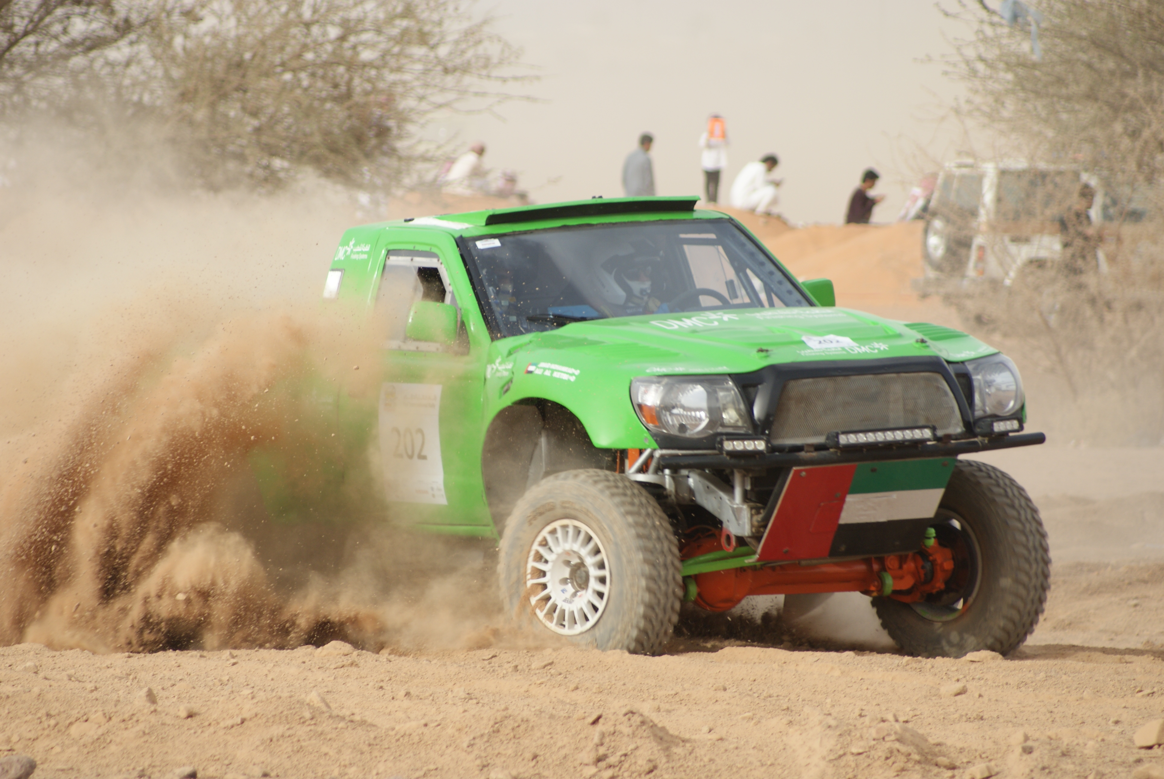 Spectator stage at the Ha'il Rally