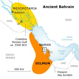 Map of ancient Dilmun (source: Pinterest)