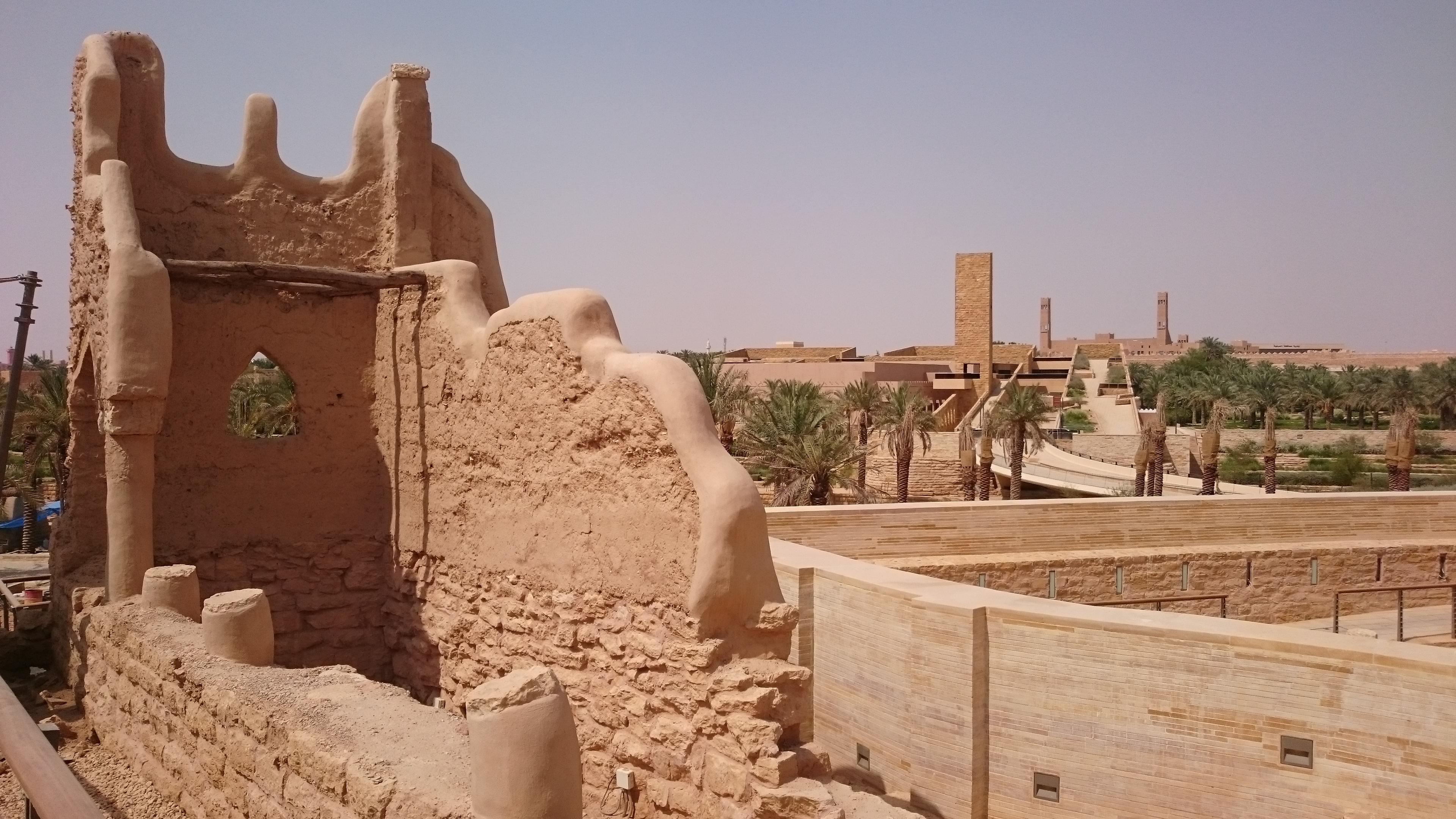 Mosques ancient and modern at Historical Addiriyah