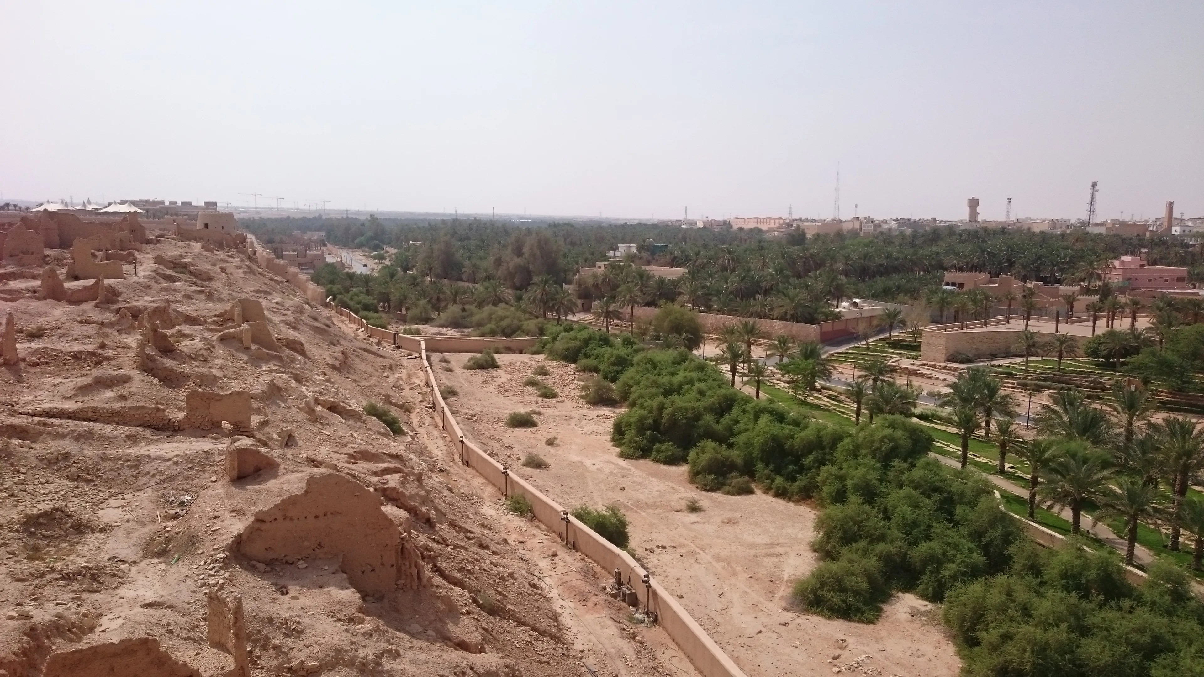 Greenery in the wadi hint at the agricultural origins of Historical Diriyah