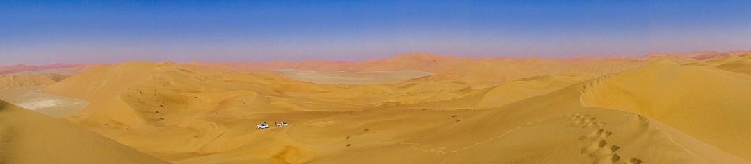 Grandiose extent of massive sand dunes in the Rub' Al-Khali (photo: Florent Egal)