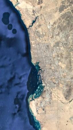 Satellite view of Jeddah (Google Earth)