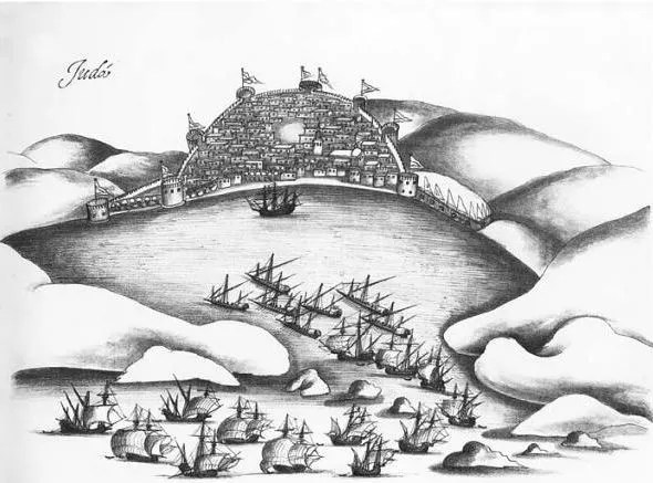 Portuguese attack on Jeddah 1517 (16th century the Ottoman age of exploration by Giancarlo Casale)