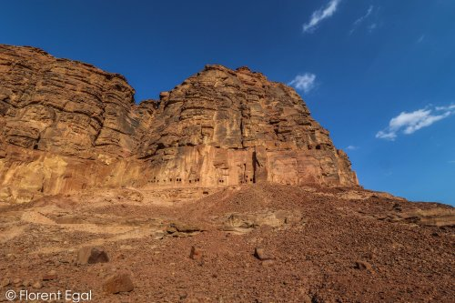 Lions Tombs of Dedan from the wadi (photo: Florent Egal)