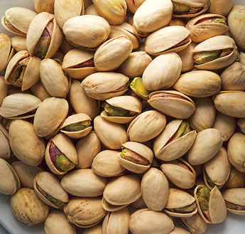 Named for the Iranian city where the seed was gathered in 1929, the Kerman pistachio proved the best for California growers, thanks in part to its naturally large kernels—the nuts—that split their shells 60 to 75 percent of the time, making the pistachio an easy snack food.