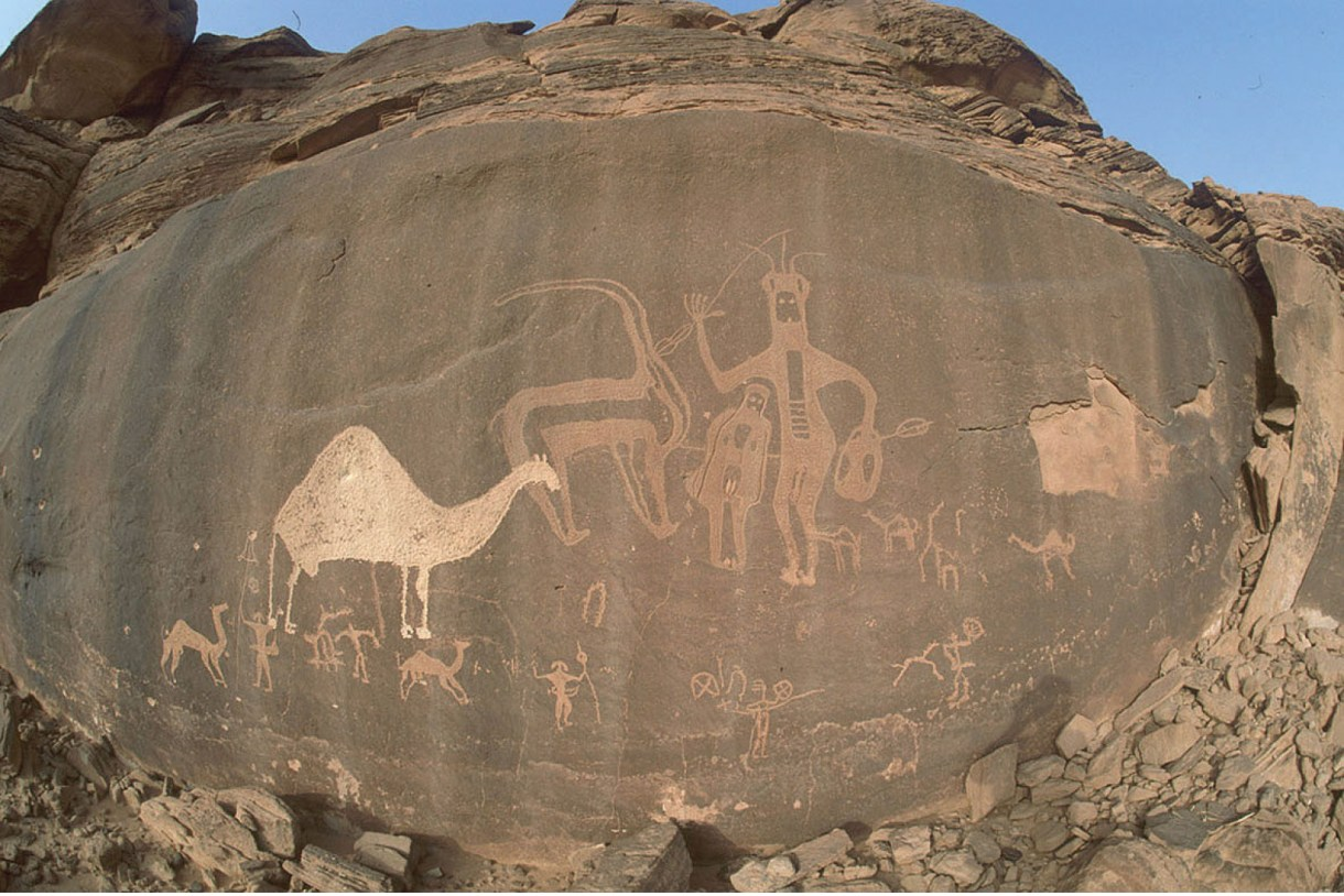 الرسوم الصخرية rock paintings of stone ages