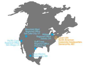 Sauer USA Map