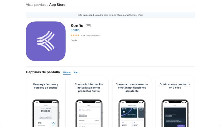 Konfío native iOS app