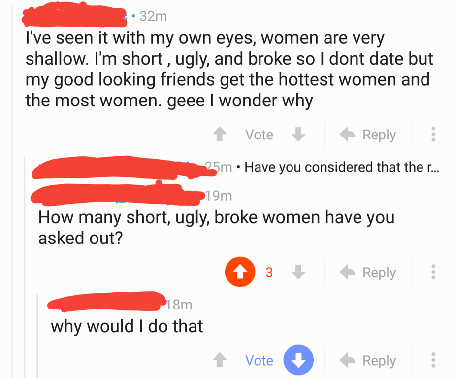 superficial and shallow nice guy