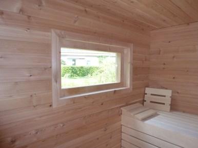 Uitzicht uit de sauna